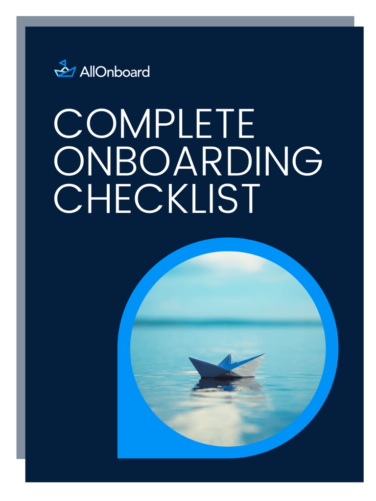 The Onboarding checklist