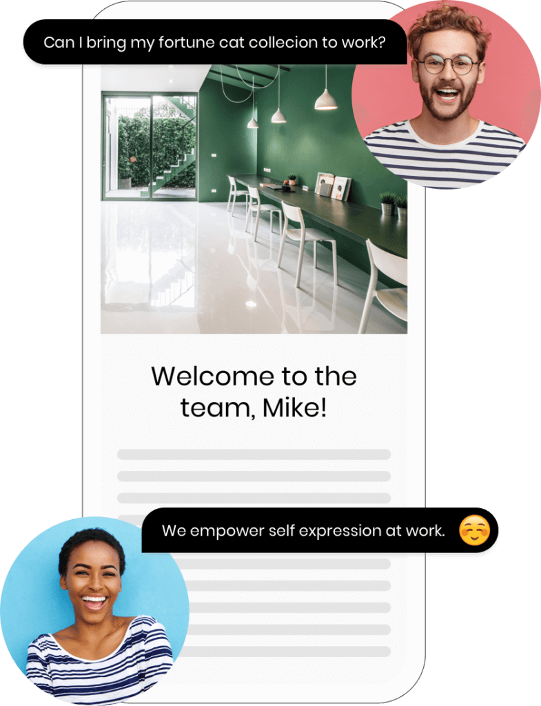 Automatically nudge employees to say hello to new hires.