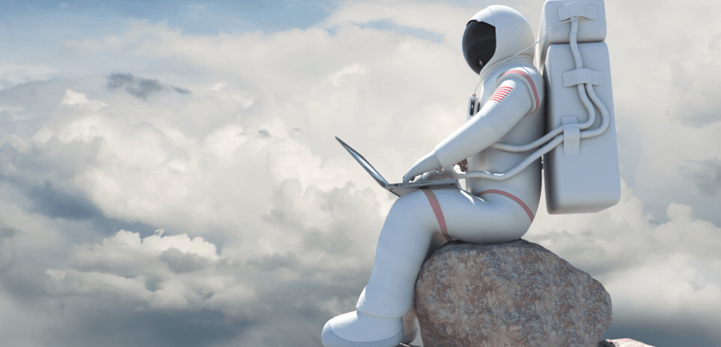 the future of work is here, and it's not astronauts on laptops